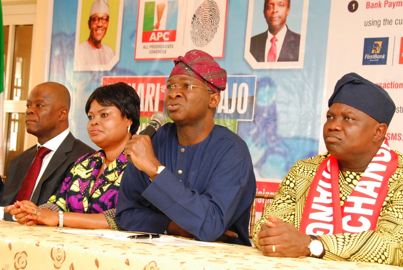 Akinwunmi Ambode attends Buhari-Osinbajo Fund Raising Press Conference