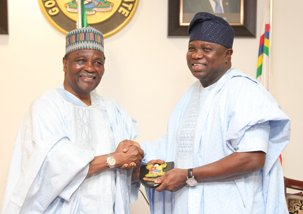 Governor Ambode Receives Former Military Head of State, Gen. Yakubu Gowon at the Lagos House, Ikeja