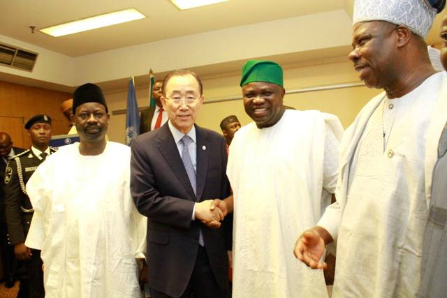 Governor Ambode and Other Governors Meet United Nations Secretary-General, Ban Ki Moon