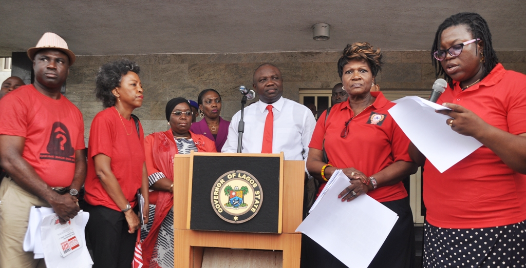 Ambode expresses optimism on safe return of Chibok Girls …Receives Members of 'Bring Back Our Girls' Group