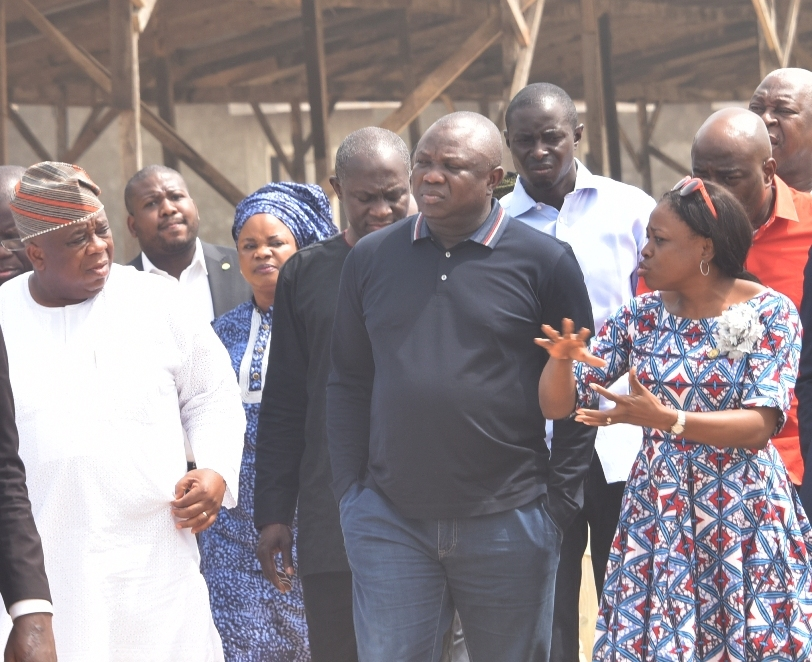Inspection of the Lagos CHOIS homes at Agbowa, Ikorodu, on Wednesday, December 30, 2015.