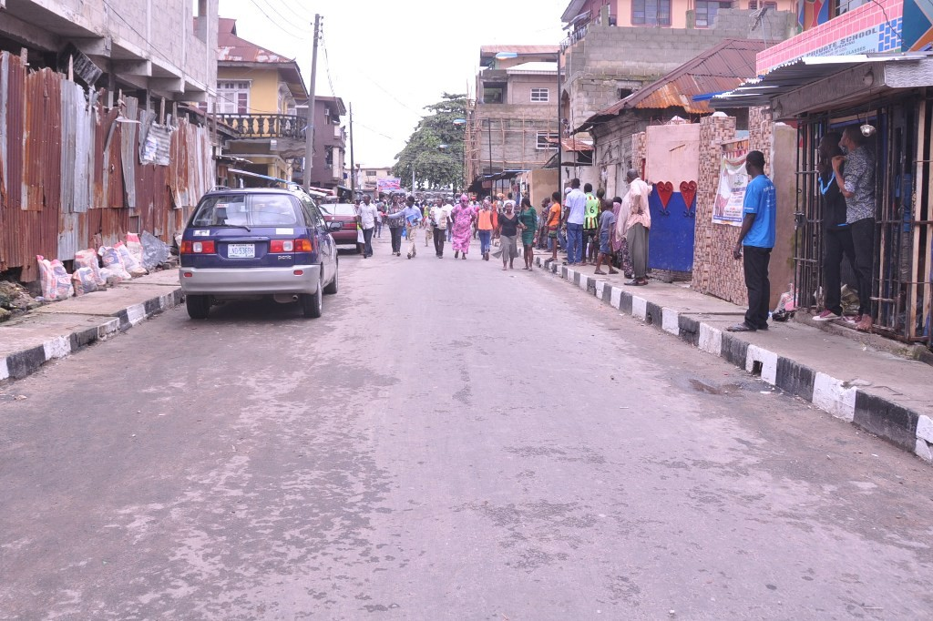This is Thomas Street in Lagos Island East LCDA, the new road is 141m long and 7.5m wide.