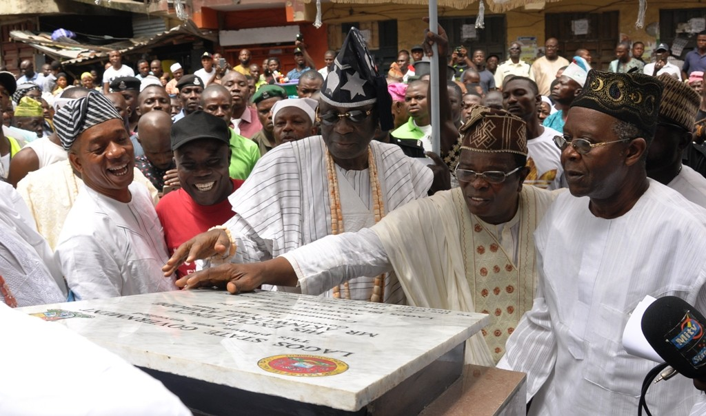 Newly constructed and commissioned road in Agarawu Street, Lagos Island Local Government.