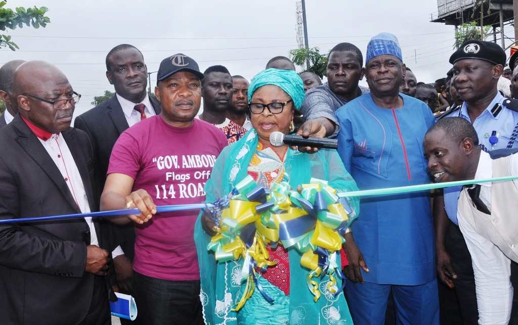 Newly constructed and commissioned 41 Road, Gowon Estate, Mosan-Okunola Local Council Development Area.