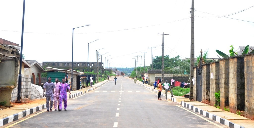 The newly constructed road in Adegoke Street, Epe LG is 620 meters long and 8 meters wide.