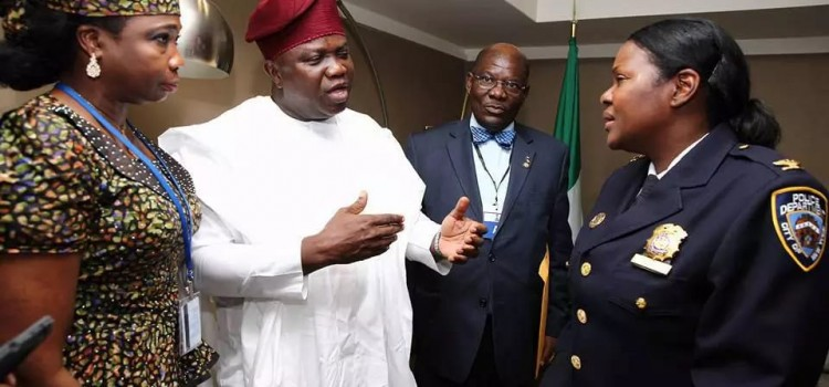 Pictures: President Buhari And Governor Ambode Meet Nigerian Professionals In Diaspora
