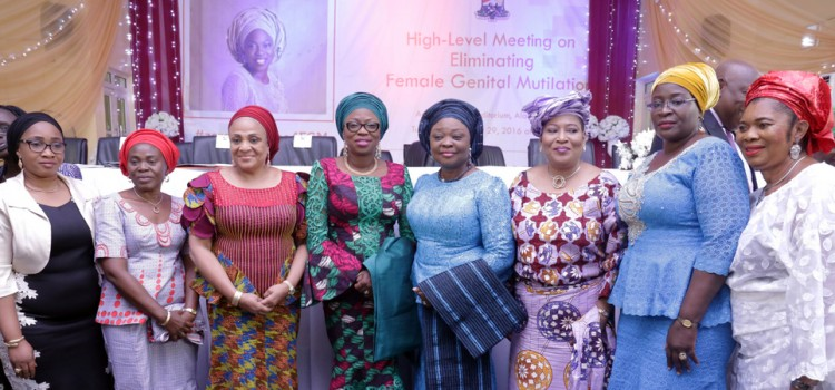 Pictures: Wife Of The Governor Of Lagos State, Mrs. Bolanle Ambode At High-Level Meeting On Eliminating Female Genital Mutilation