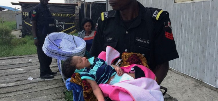 Lagos Police Restore Calm, Rescues 2-Day Old Baby
