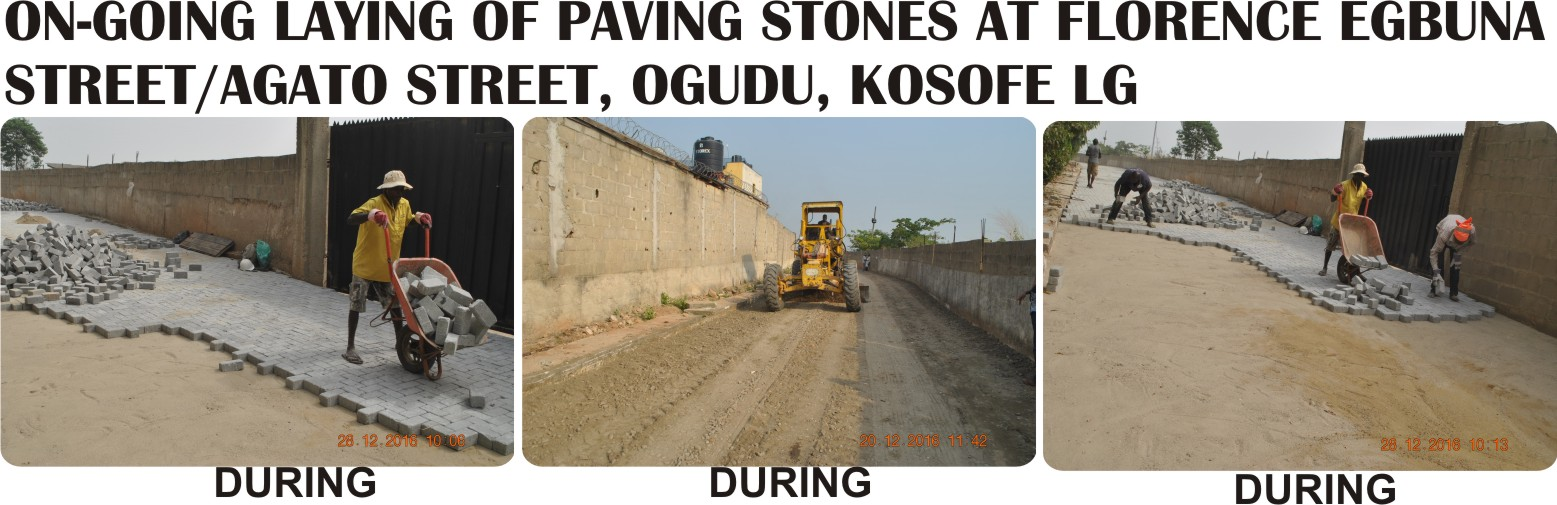 ON-GOING LAYING OF PAVING STONES AT FLORENCE EGBUNA