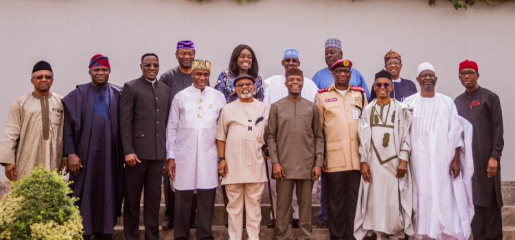 Pictures: Governor Akinwunmi Ambode At the National Economic Council Meeting At State House, Abuja