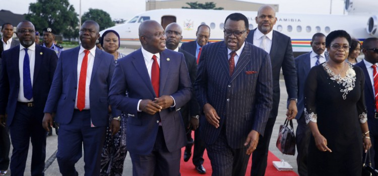 Pictures : Governor Ambode Receives President Hage Geingob of Namibia