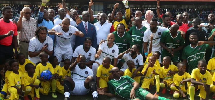 African Football Legends Honour Ambode In Lagos